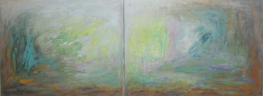 Winter on two canvases