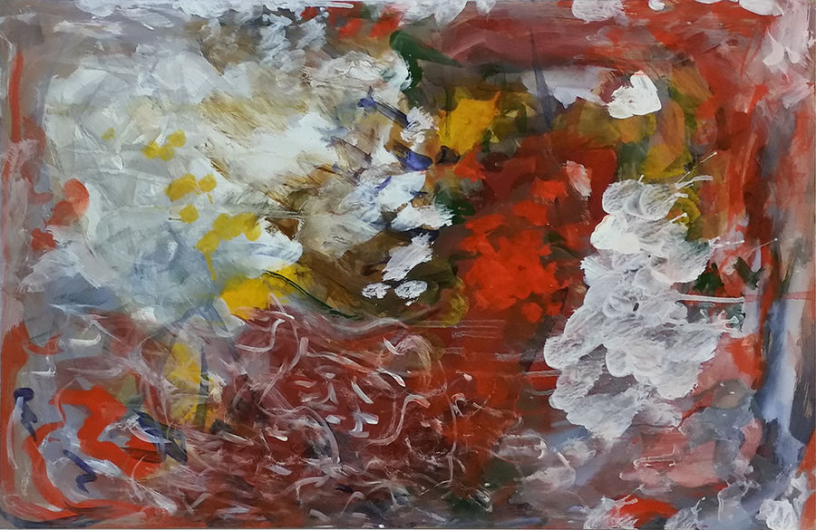 Abstract in tempera