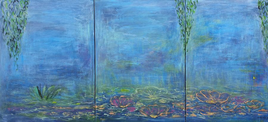Water lilies 3 (Triptych)