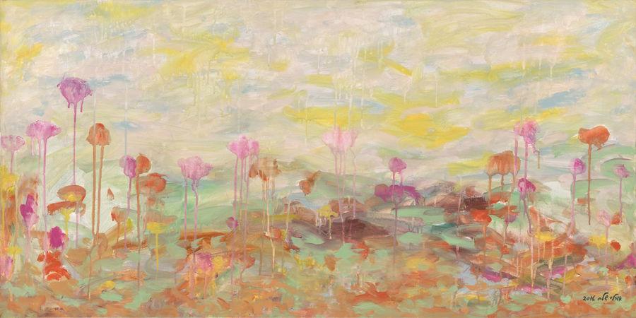 פרחי אביב, אוסף האמן