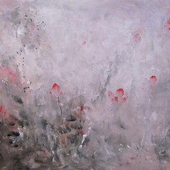 פרחים במונוכרום אדום