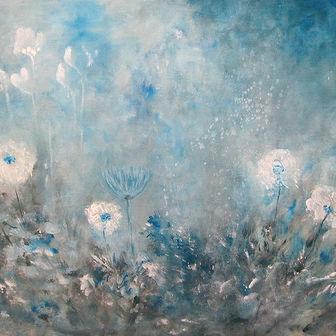 פרחים במונוכרום כחול