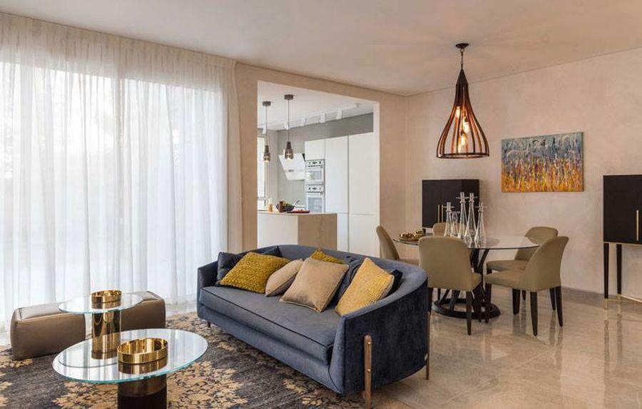 """""""ריקוד"""" בדירה לדוגמא בפרוייקט בבקעה ירושלים, עיצוב"""" אנוט פורמר"""