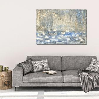 הדמיה עם הציור חבצלות מים