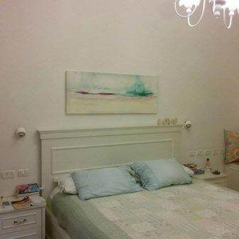 הדפס של נוף (ש)מיימי בחדר שינה